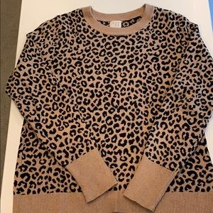 a new day  leopard print sweater.